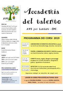 accademia del talento - primavera 2019