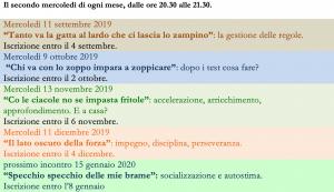 seminari WEB - autunno 2019 + gennaio 2020