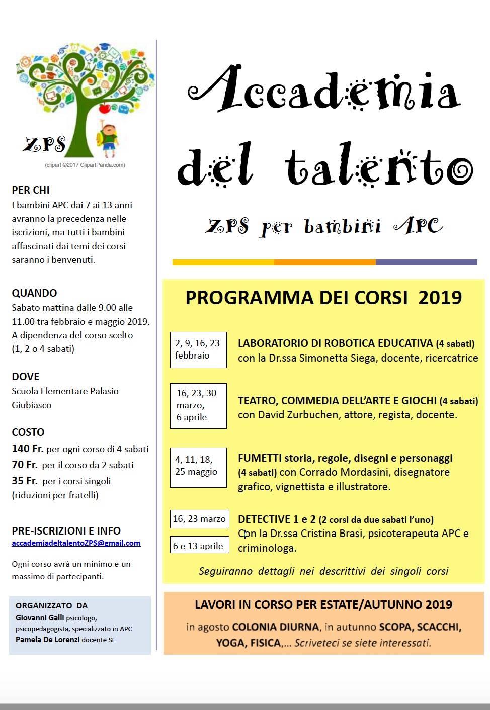 accademia del talento – primavera 2019