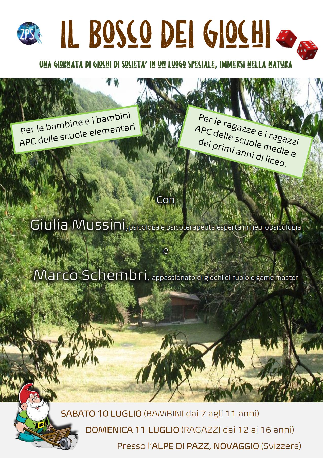 """Pre-iscrizione """"Il bosco dei giochi"""""""